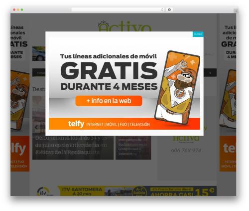 NEUE template WordPress - activaorihuela.es