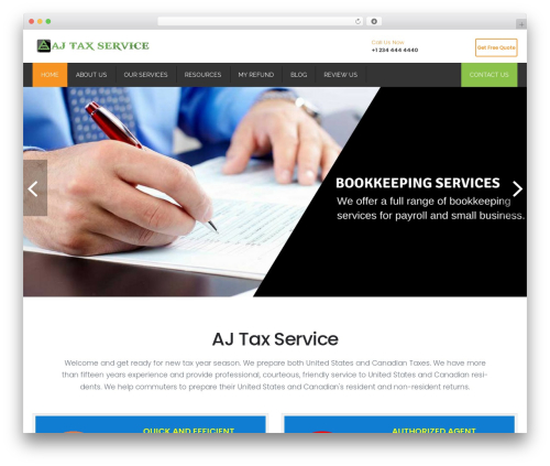 Restore WordPress shop theme - ajtaxservice.com