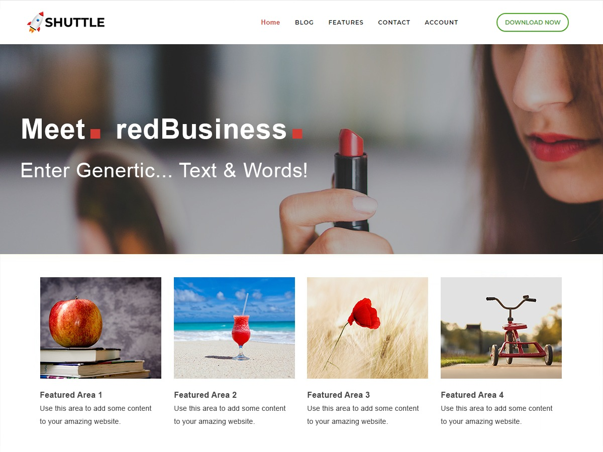 Shuttle redBusiness WordPress shop theme