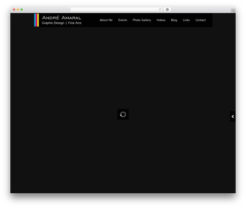 Black Label theme WordPress portfolio - artbyandre.net