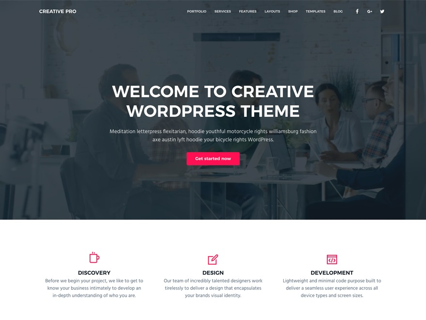 Business Pro Theme company WordPress theme
