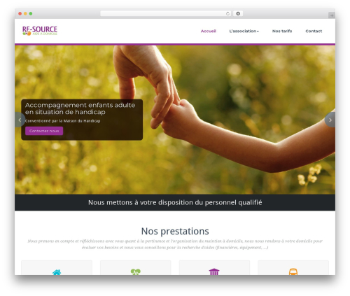 BusiProf Pro WordPress theme - asso-re-source.fr