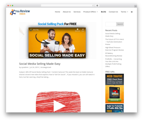EZ Theme WordPress video template - arthuravington.com