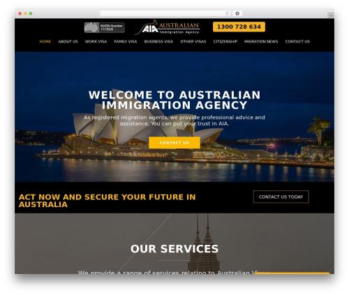 Optima best WordPress theme - australianimmigrationagency.com