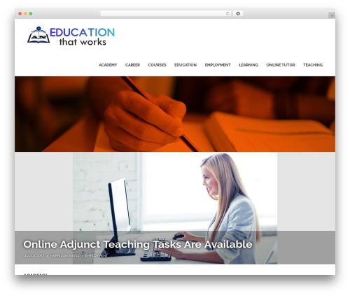 Poseidon WordPress template free - aneducationthatworks.com