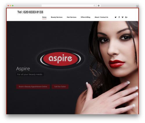 Salient WordPress theme - aspirehairandbeauty.co.uk