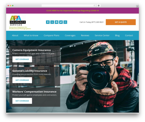Theme WordPress BrightFire Stellar - apainsuranceservices.com