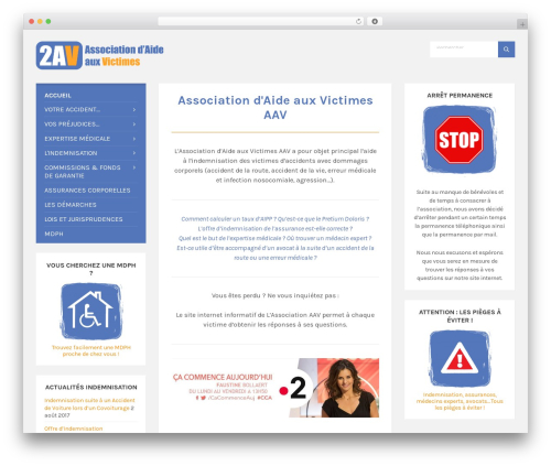 TownPress WordPress theme - association-aide-victimes.com
