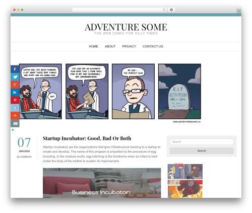 WordPress theme Start Blogging - adventuresome.ca
