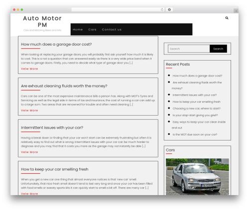 Automobile Car Dealer newspaper WordPress theme - automotorpm.com