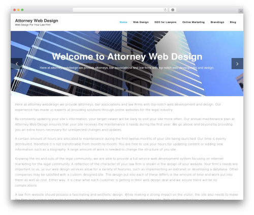 Best WordPress template Shuttle - attorney-webdesign.com