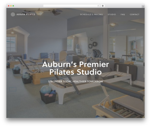 Boo WordPress theme - auburnpilates.com