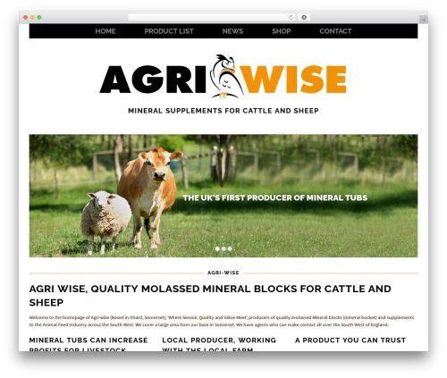 Healthy Farm WordPress website template - agri-wise.co.uk