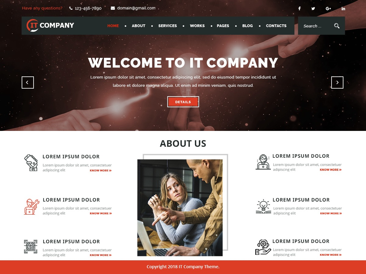 IT Company business WordPress theme