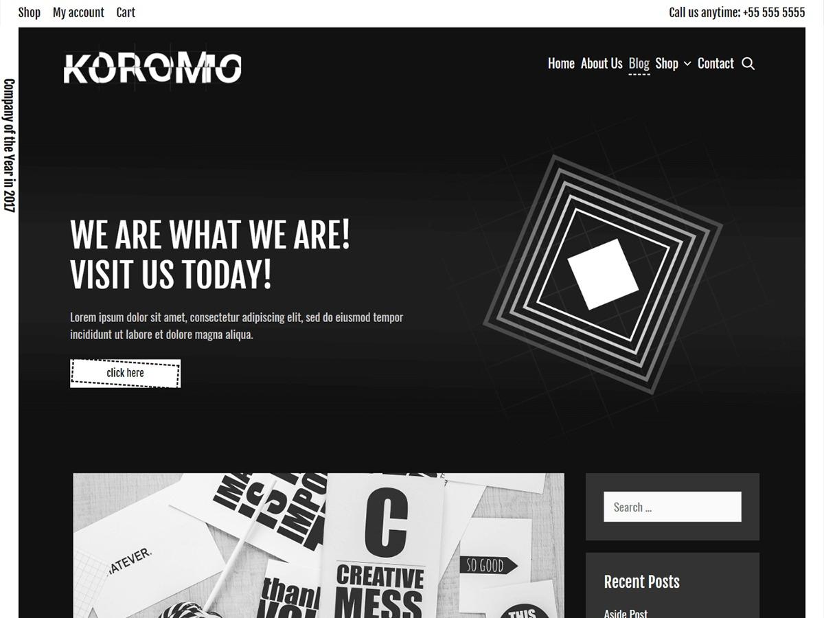 Koromo WordPress blog theme