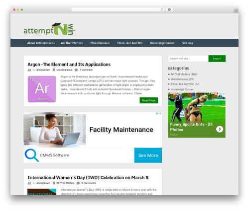 Free WordPress Slick Sitemap plugin - attemptnwin.com