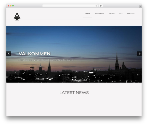 Showcase Lite best free WordPress theme - antins.se