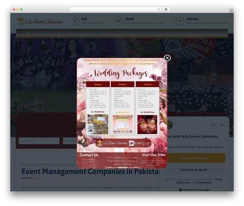 Tectxon WordPress theme - a2zeventssolutionz.com