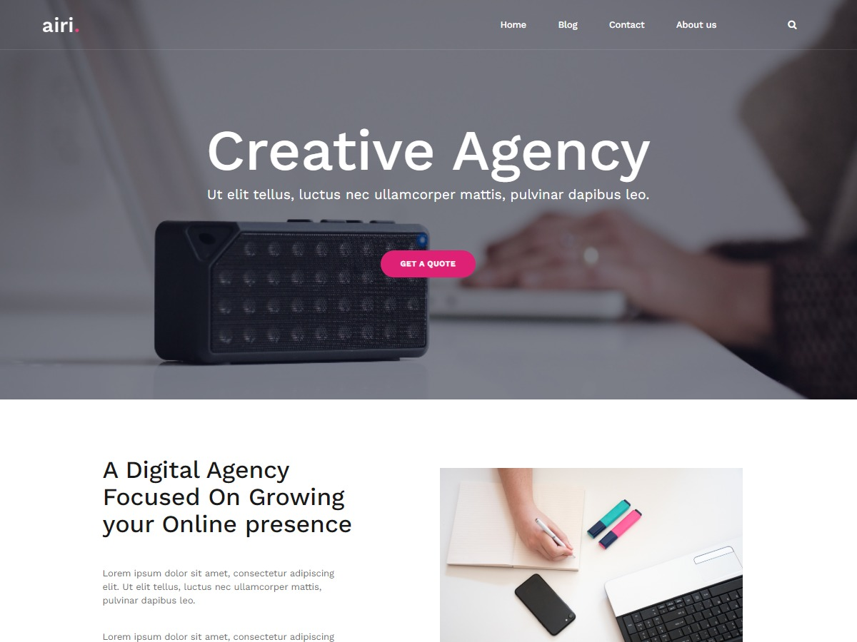 WordPress theme airi