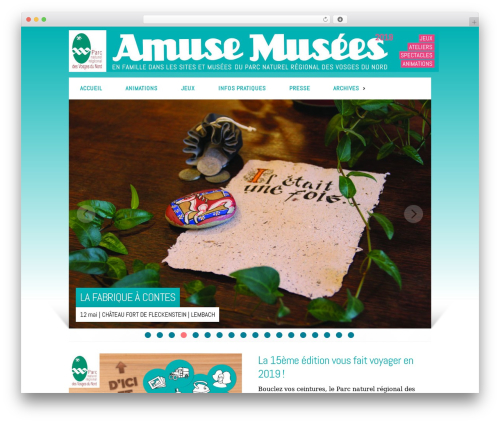 WordPress website template Modulo - amusemusees.com