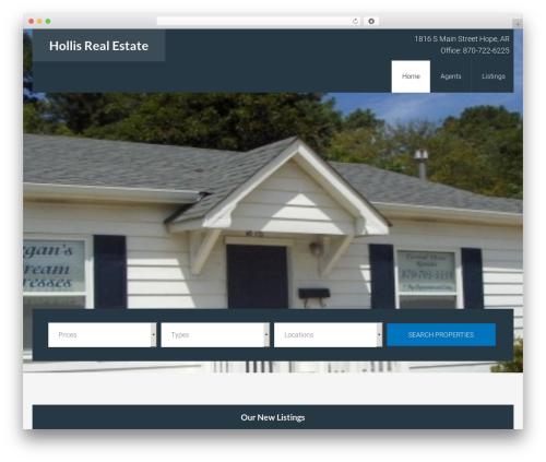 AgentPress Pro best real estate website - hollisrealestatear.com