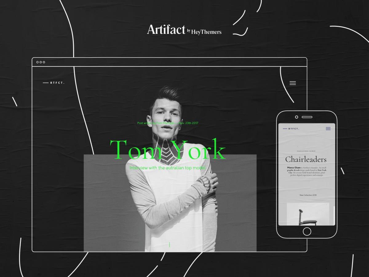 Airtifact personal blog WordPress theme