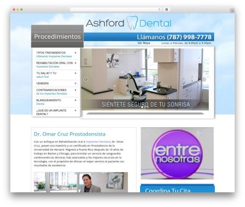Best WordPress template ashford - ashforddentalpr.com