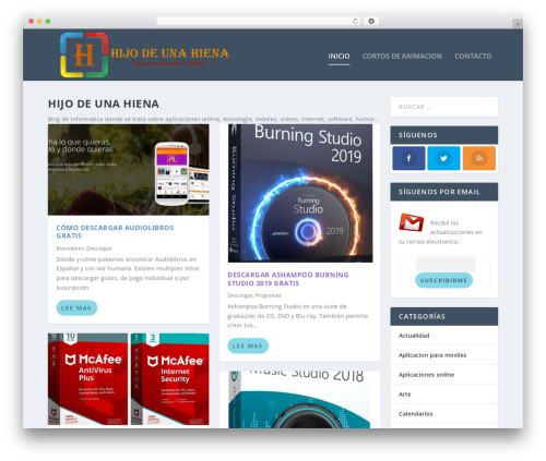 Best WordPress template Extra - hijodeunahiena.com