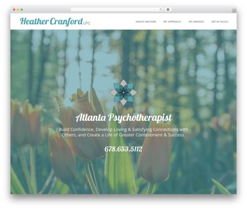 Best WordPress theme Jupiter - heathercranford.com