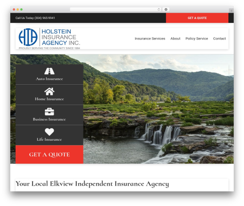 BrightFire Stellar WordPress theme design - holsteininsuranceagencyinc.com