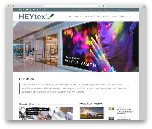 Enfold WordPress theme - heytex.com