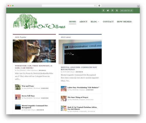 Extra WordPress theme - harpsonwillows.com