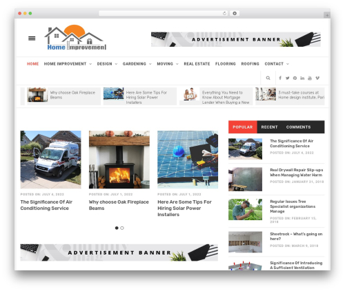 Infinity Mag WordPress theme design - homesimprovements.net