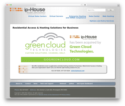 ipHouse Olympus company WordPress theme - mindfulcontent.com