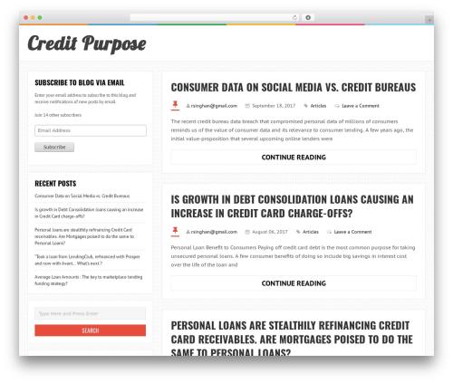LiveBlog theme free download - creditpurpose.com