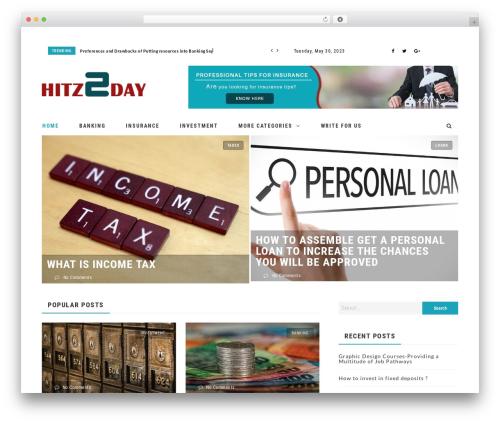 Neder WordPress theme - hitz2day.com