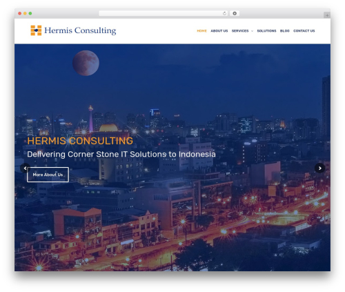 Revolution WordPress template - hermisconsulting.com