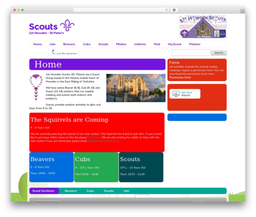 Scout IT! WordPress theme - howdenscouts.co.uk