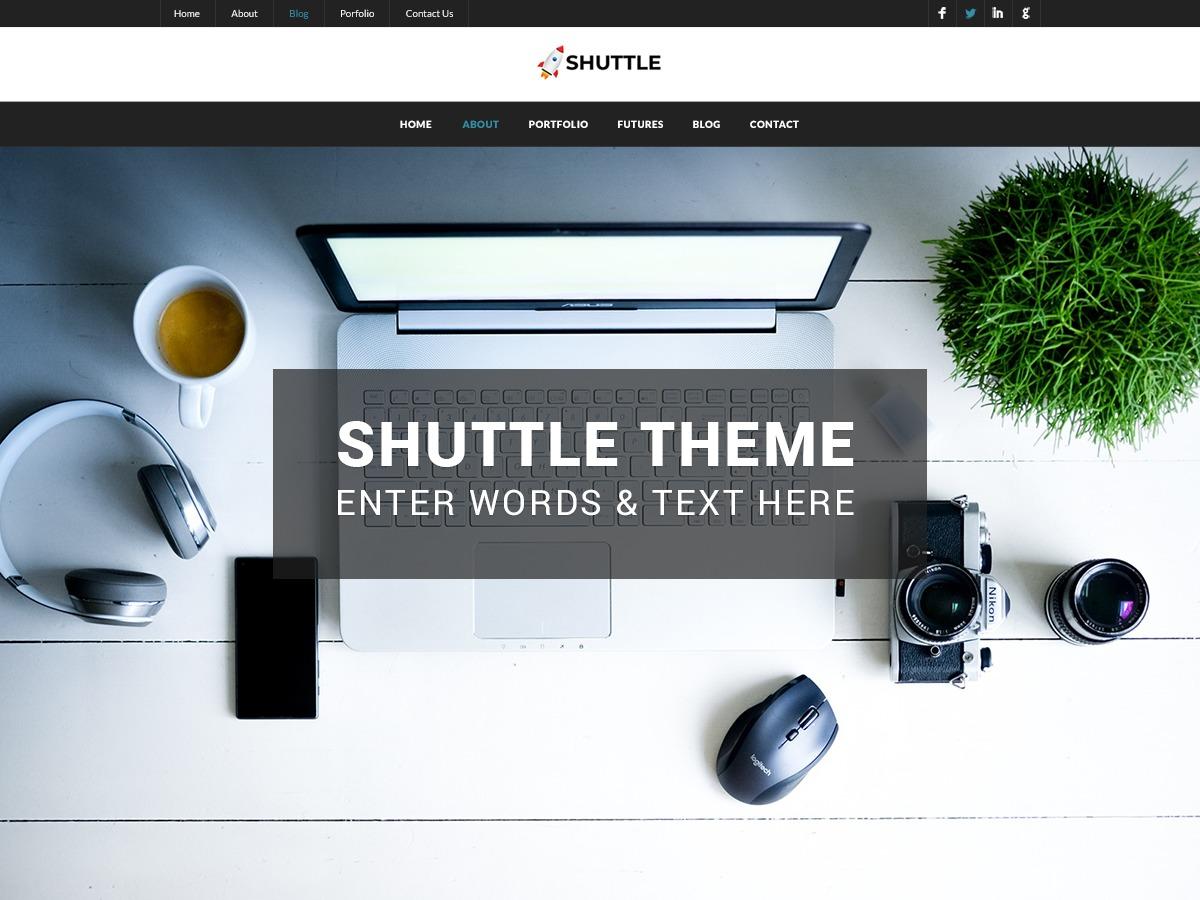 Shuttle Dark WordPress news theme