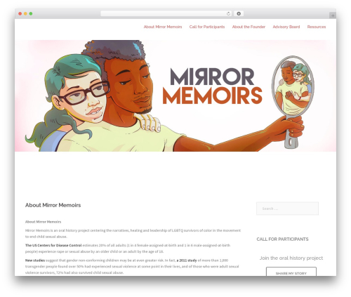 Sydney premium WordPress theme - mirrormemoirs.com
