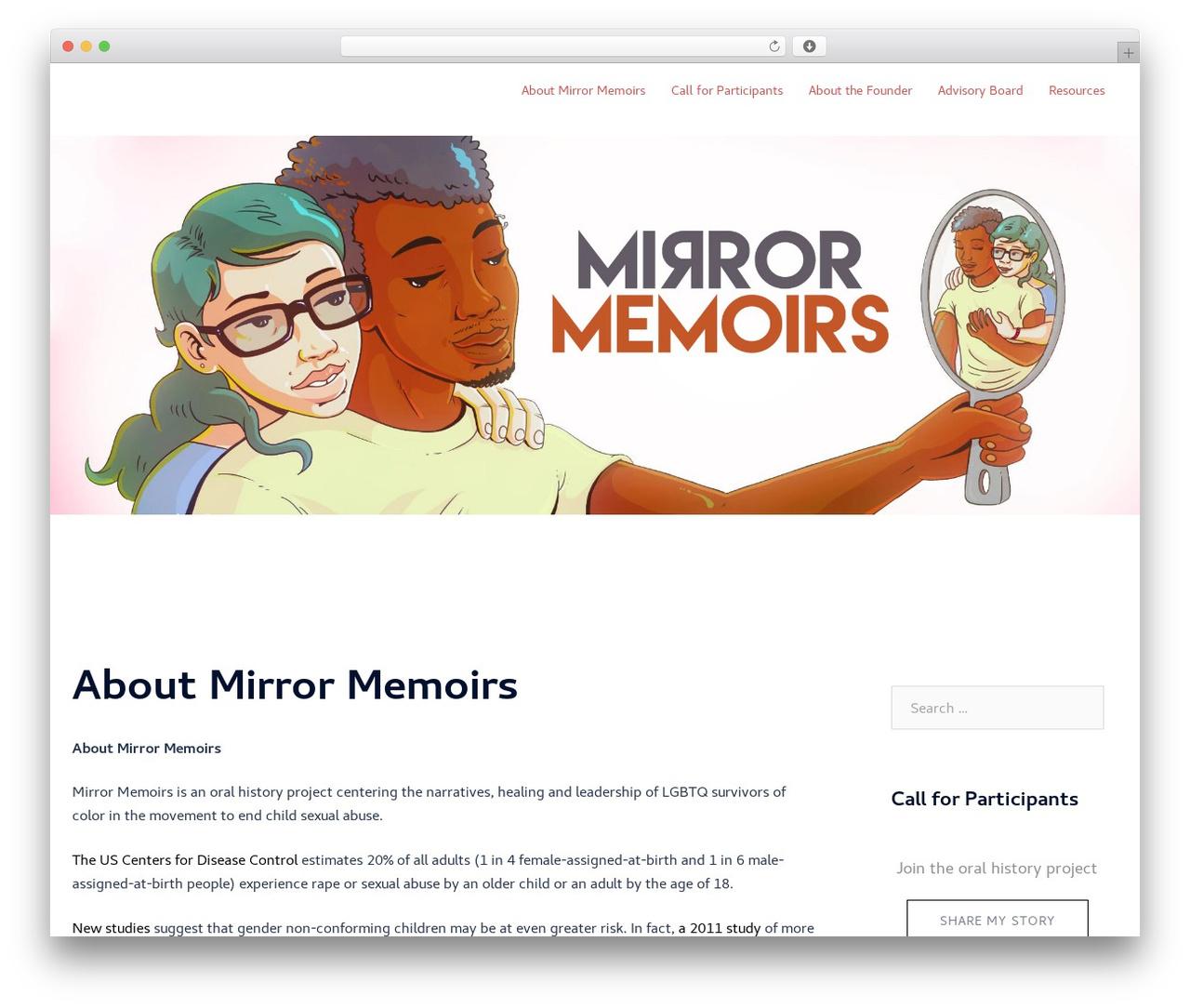 Sydney premium WordPress theme - mirrormemoirs.com