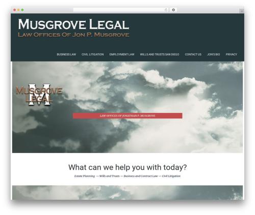 Template WordPress Kora WP - musgrovelegal.com
