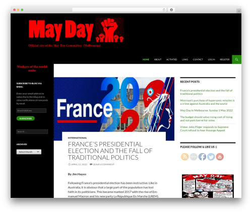 Twenty Fourteen WordPress website template - maydayvictoria.com