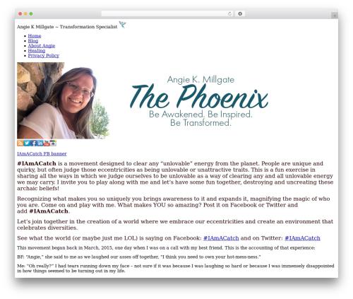 WordPress template PageLines Framework - angiemillgate.com/the-iamacatch-movement