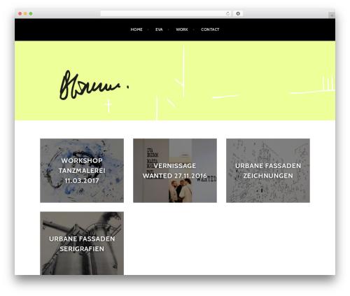 WordPress theme Argent - evabluemm.com