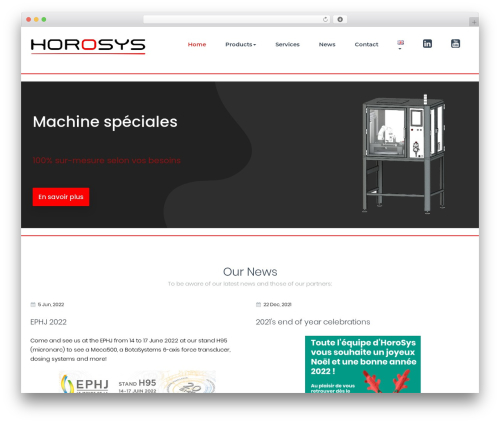 WordPress theme BusiProf Pro - horosys.ch