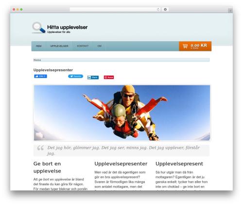 WordPress website template Shelflife - hittaupplevelser.se