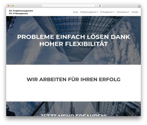 Zerif Lite template WordPress free - atl-gmbh.com