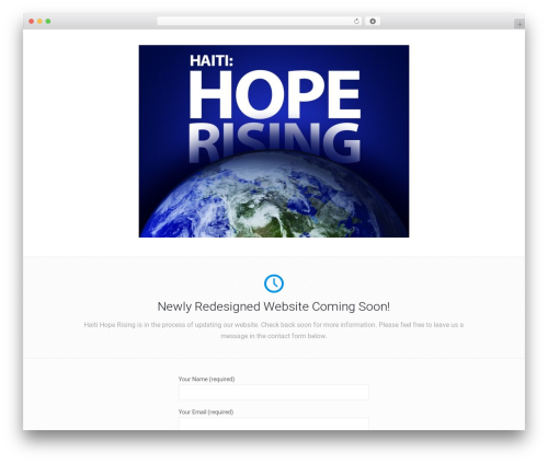 Betheme WordPress template - haitihoperising.com