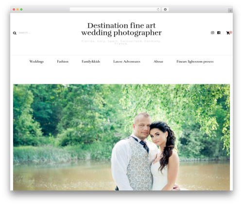 Blossom Fashion best wedding WordPress theme - helgagolubew.com